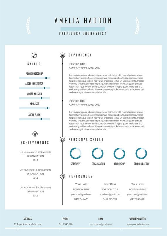 Professional Cover Letter Template Best Creative Resume Template And Cover Letterpaperavenueco On Etsy Design Decoration