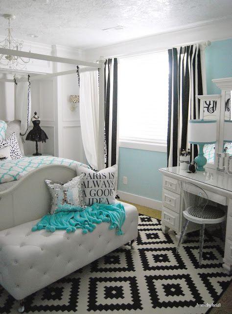 teenage girl's bedroom …  tiffany inspired bedroom