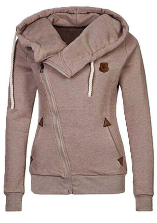 Shae wants: Dark Grey Traveller Side Zipper Sweatshirt