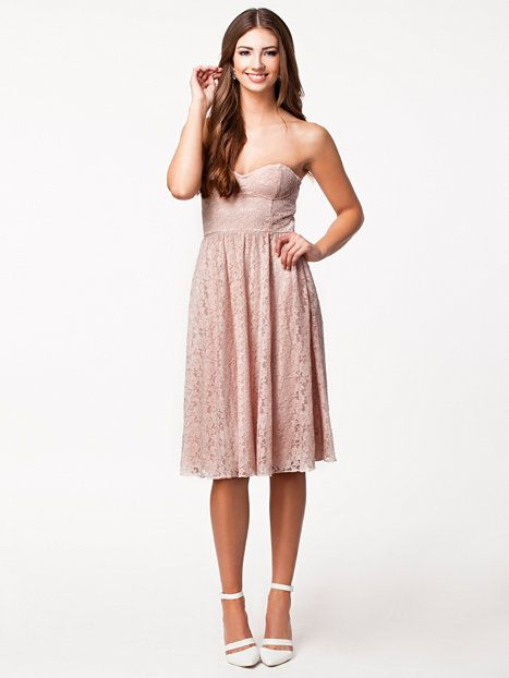 Size Medium Strapless Pink Floral Lace Dress