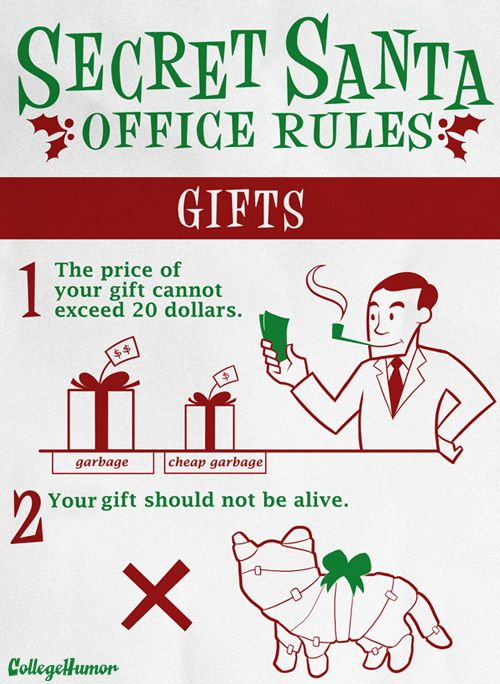 Secret santa christmas pinterest secret santa and santa - Secret santa gifts office ...