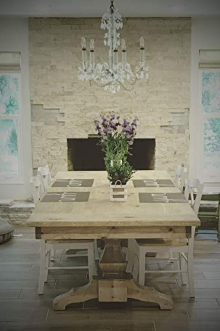 Handmade Farm Table Made In Usa Thick Solid Woods Used Top To