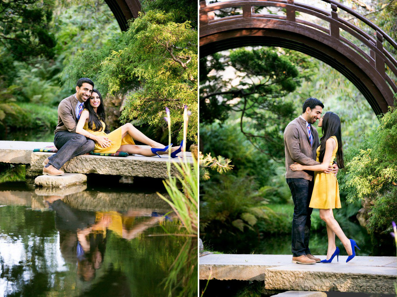 Japanese Tea Garden Engagement Love The Color Combo Of Bright Colors And The Backgrounds