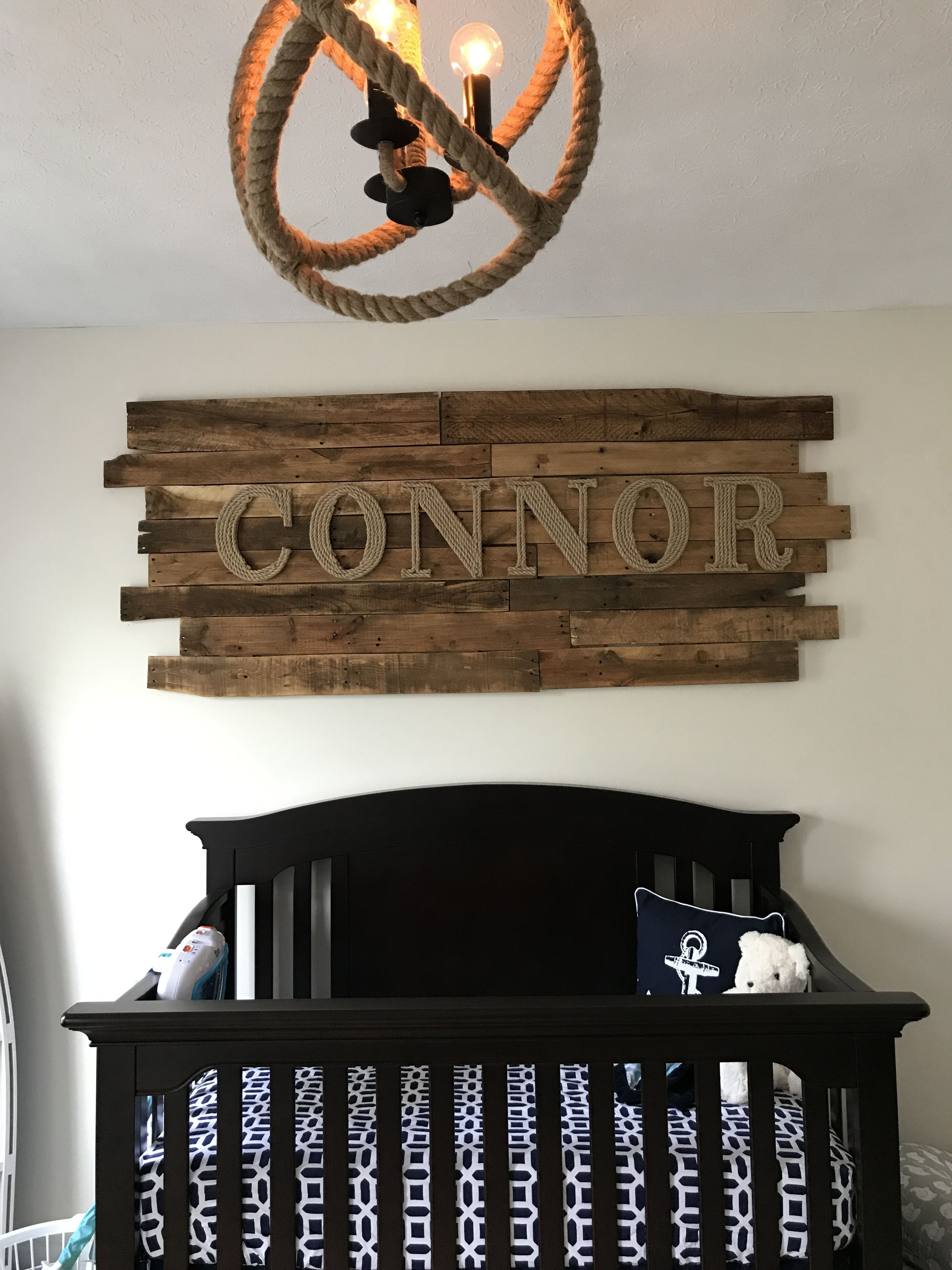 Nautical Nursery Wall Art For Our Sweet Little Connor Made