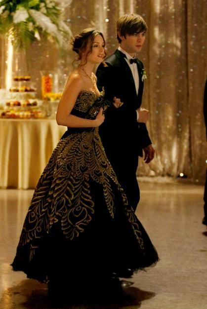 Blair Waldorf wearing Marchesa and Nate Archibald at the ...