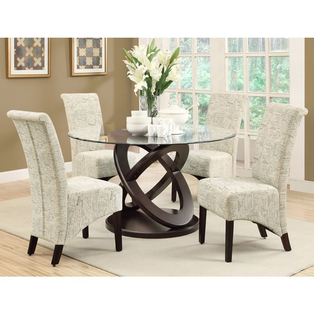 Parson vintage french fabric inch dining chairs set of