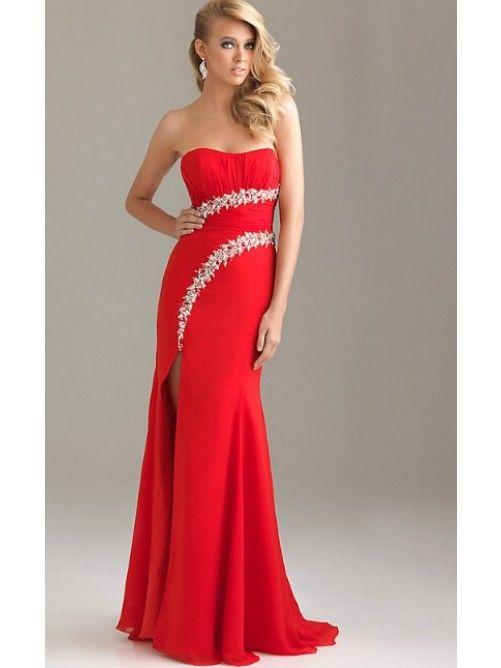 Trägerlos Lange Abendkleidung   My Prom   Pinterest   Abendkleidung ...