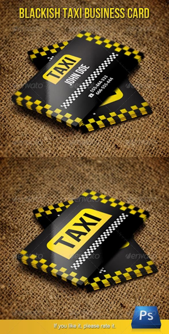 Blackish Taxi Business Card | Business cards, Business and Visit cards