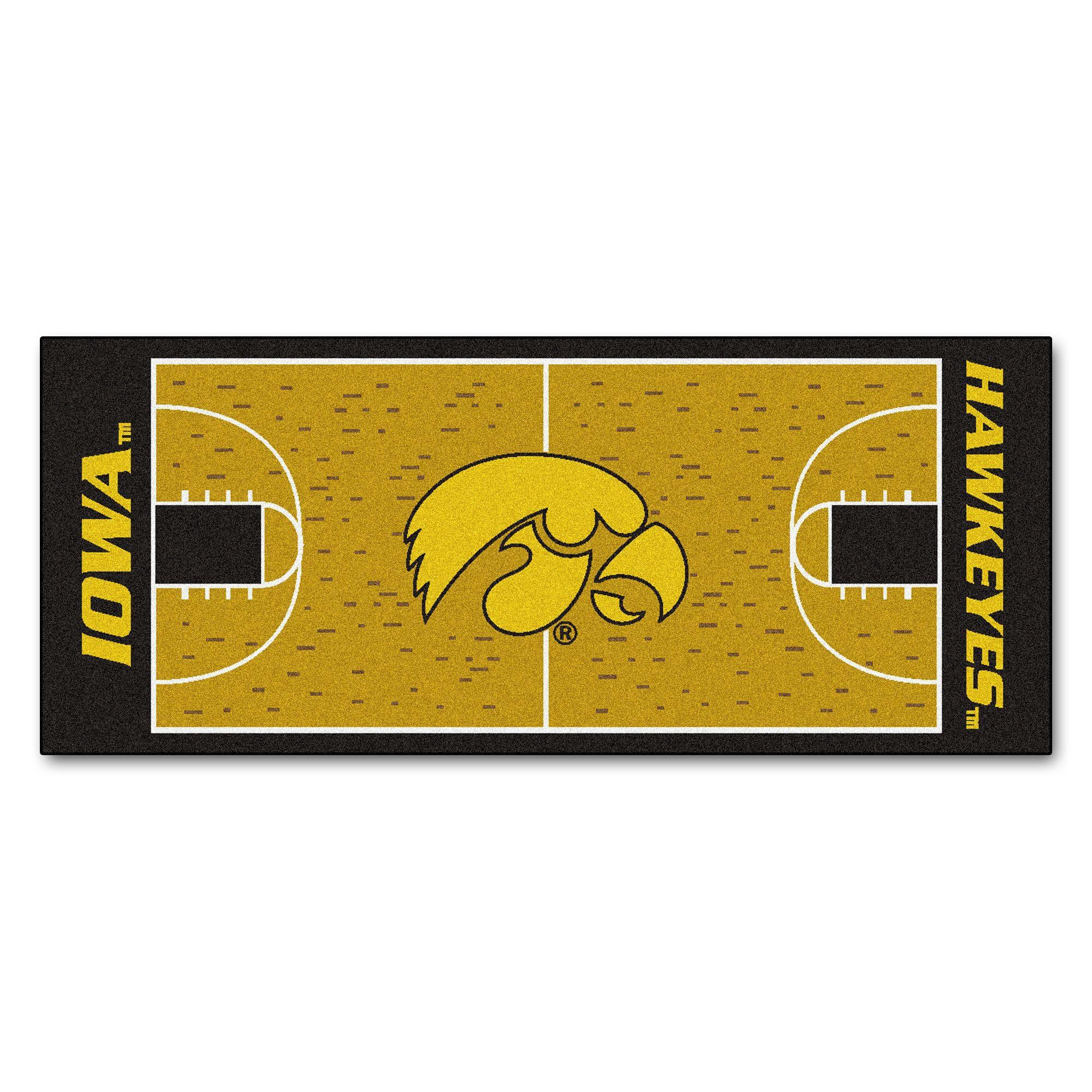 University Of Iowa Basketball Court Runner 30x72