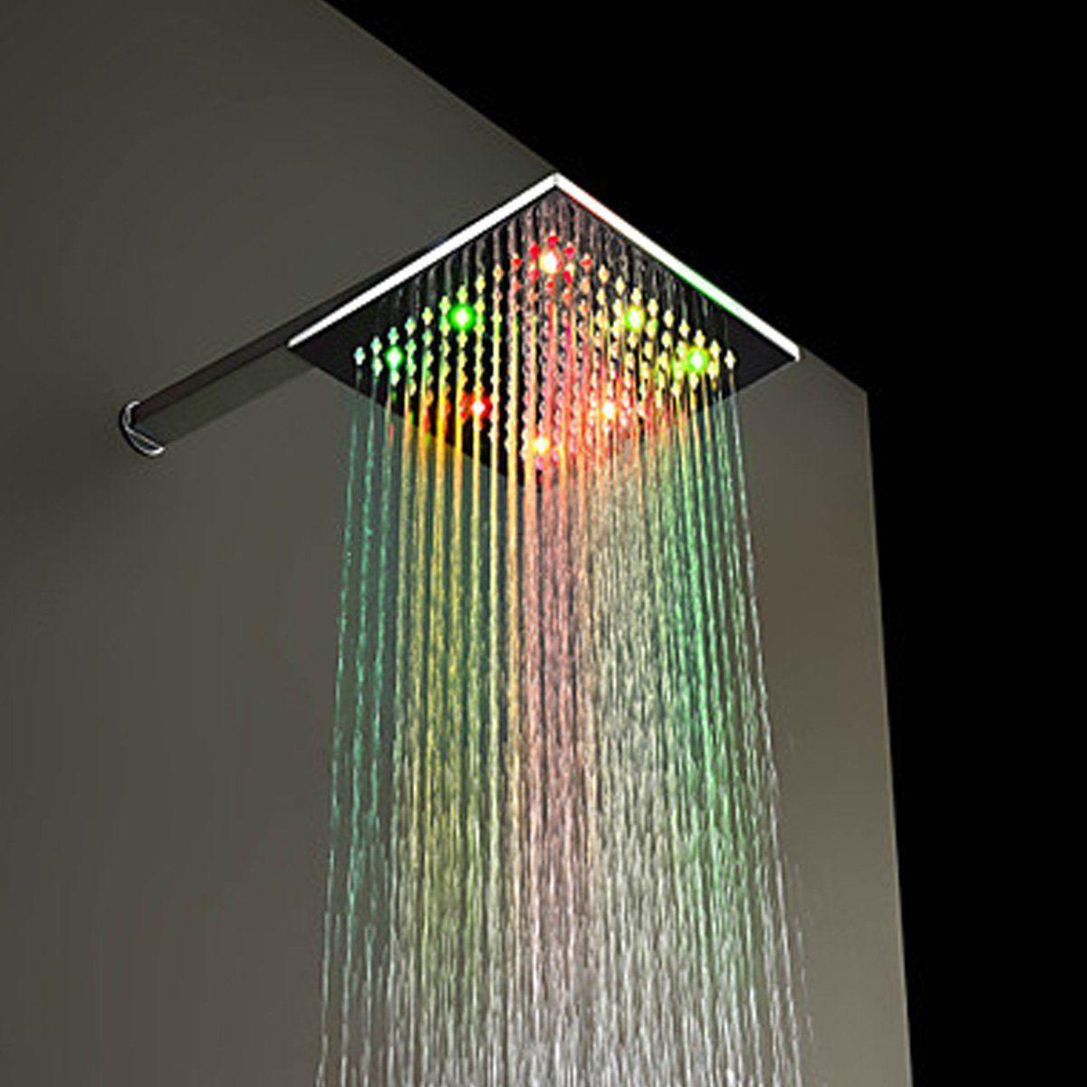 Shower Head With Color Led Lights Led Shower Head Shower Heads Copper Shower Head