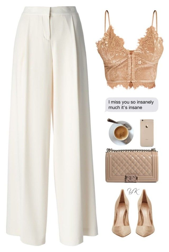 """""""It's My Event"""" by youryulianna ❤ liked on Polyvore featuring DKNY, Chanel and Gianvito Rossi"""