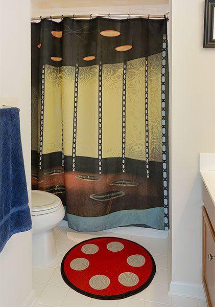 Star Trek Transporter Room Bath Mat Shower Curtain Set Pic Star Trek Transporter Star Trek Star Trek Decor