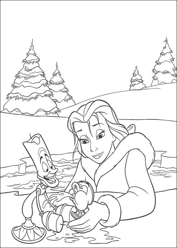 Free Printable Beauty And The Beast Coloring Pages For Kids