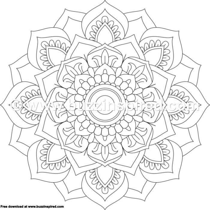 10 Mandala Flower Design Coloring Pages – Buzzinspired.com ...