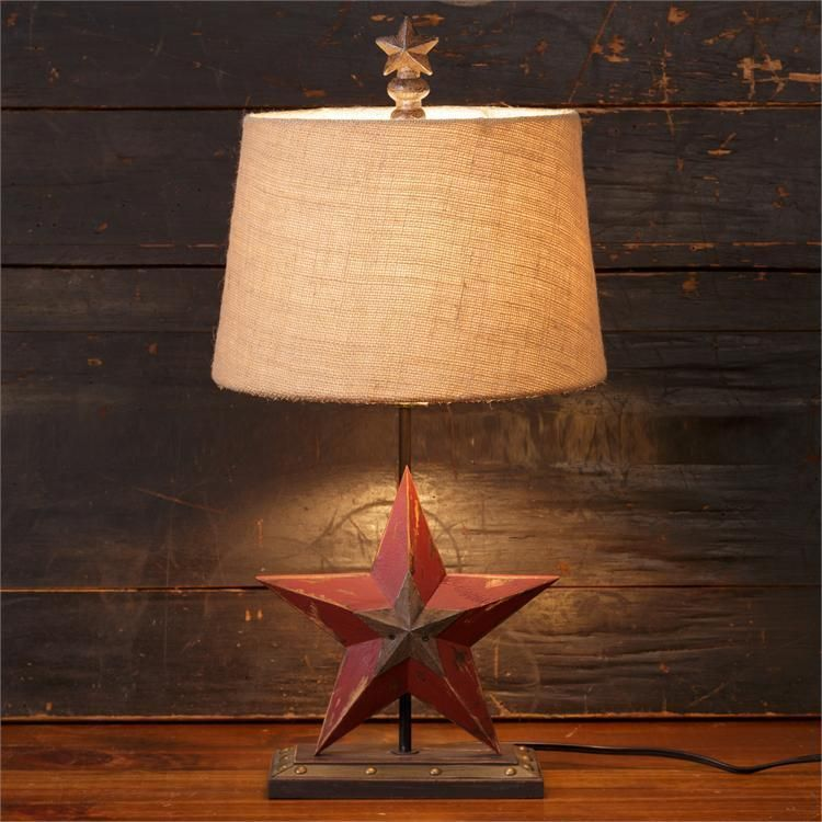rustic table lamps for cabins wood uk canada new primitive country barn star lamp burlap shade electric light