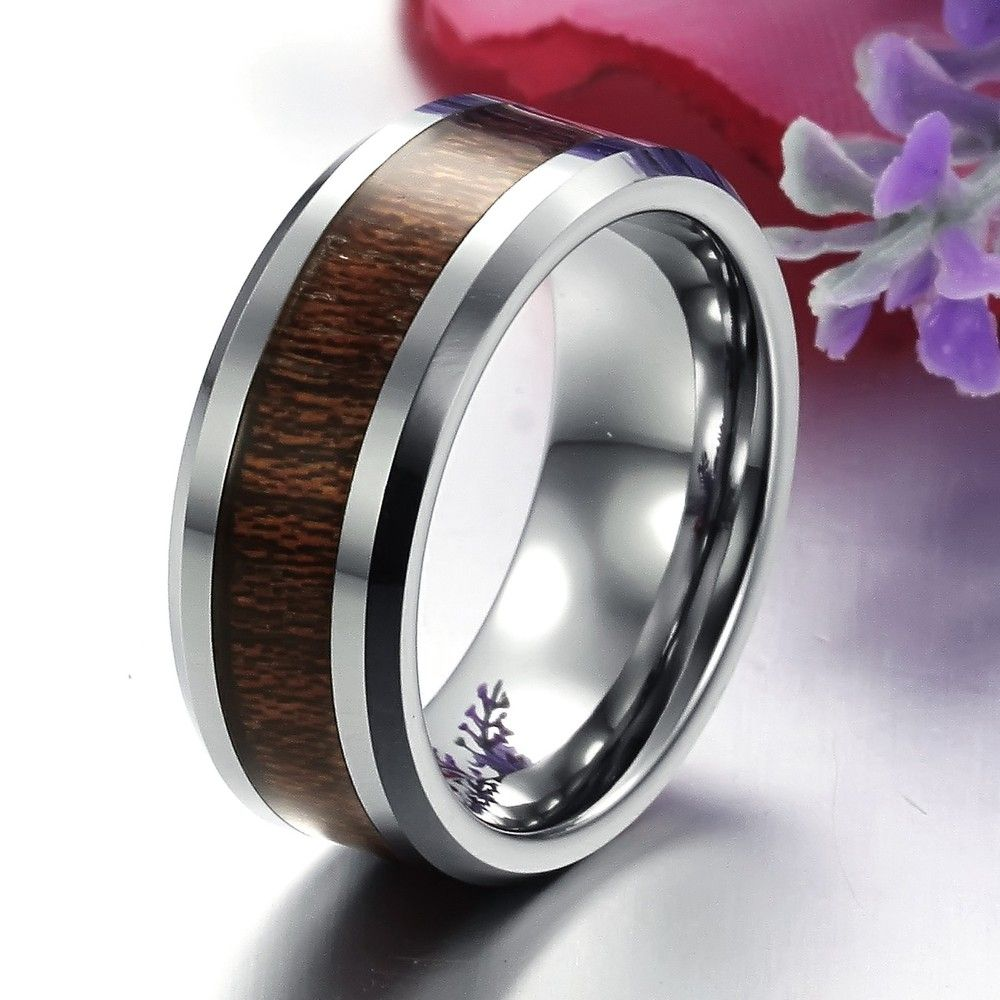 Min Order 10 Hot Selling 8MM Pure Tungsten Steel Carbide Ring Mens Wedding