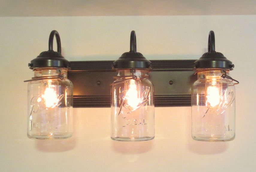 50 Genius Ways To Use Mason Jars Mason Jar Lighting Mason Jar Diy Mason Jar Bathroom