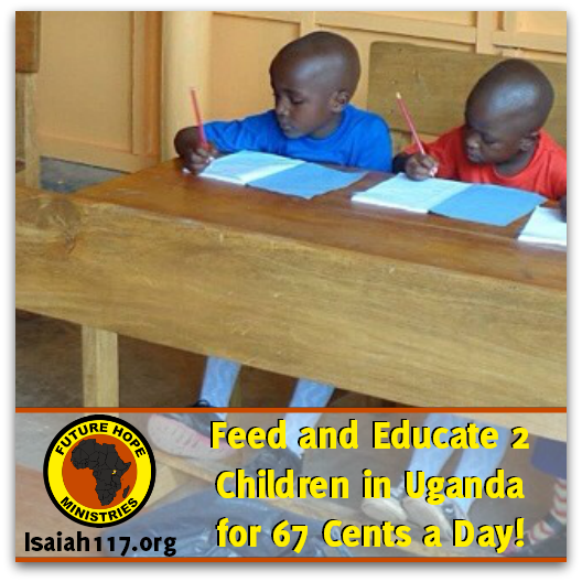 Learn how you can help feed and educate two impoverished children in Uganda for just $20/month.  #loveuganda #uganda