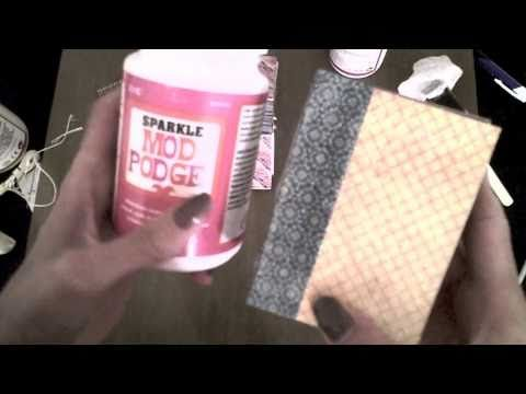 ▶ How To Make a Mini Book With Soap Wrap - YouTube
