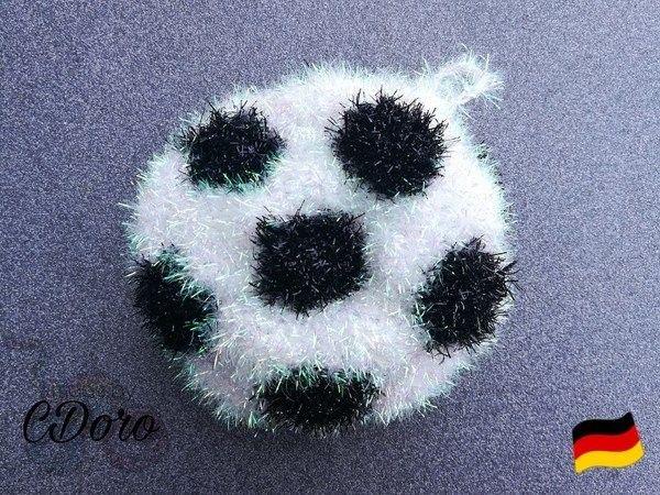 Fußball Schwamm Soccerball Sponge Crochet Pattern Häkel Anleitung