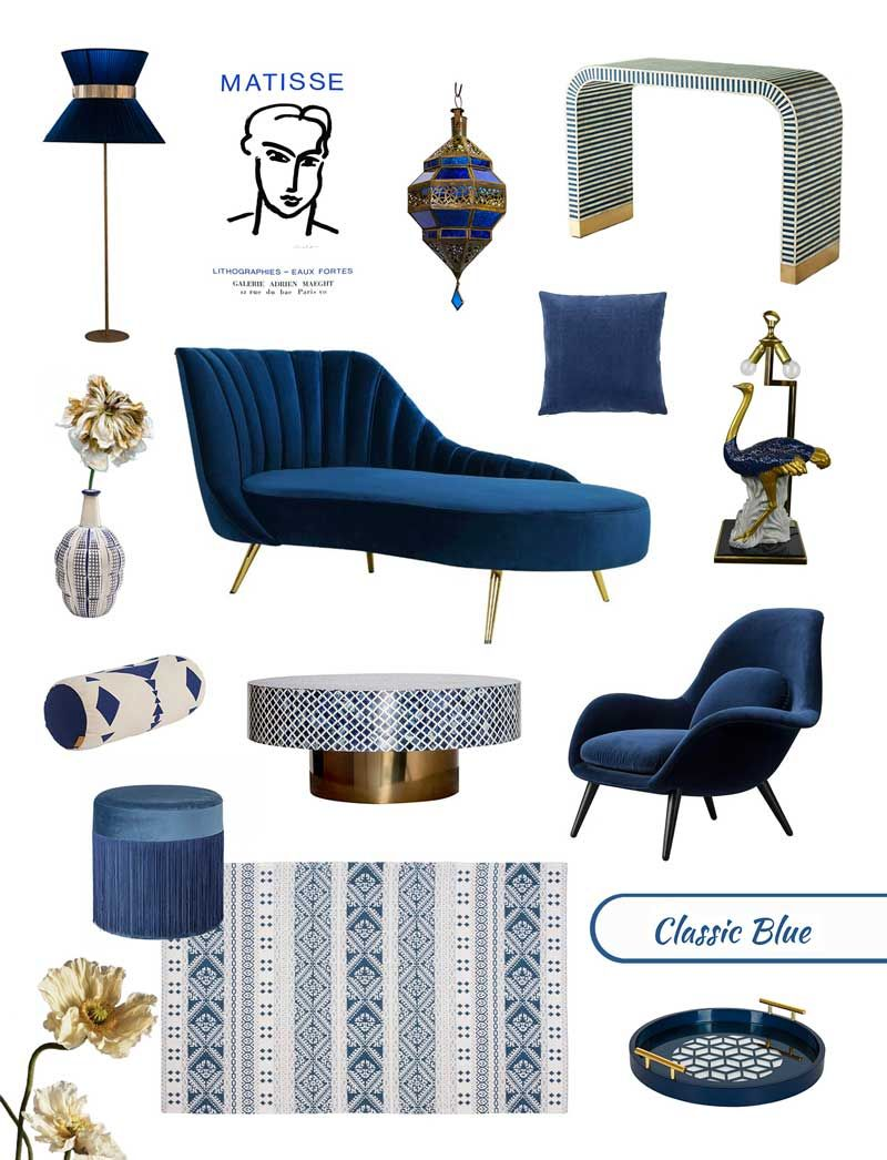 INTERIOR TRENDS | Pantone 2020 Classic Blue Furniture Home Decor