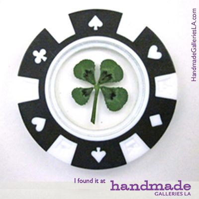 A Lucky Poker Chip Featuring A Real Four Leaf Clover Perfect For St Patrick S Day Or That V Poker Chips Great Valentines Day Gifts Valentine Day Gifts