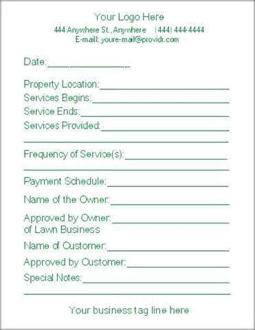 Lawn Care Bid Proposal Template Free Service Business Plan Letter