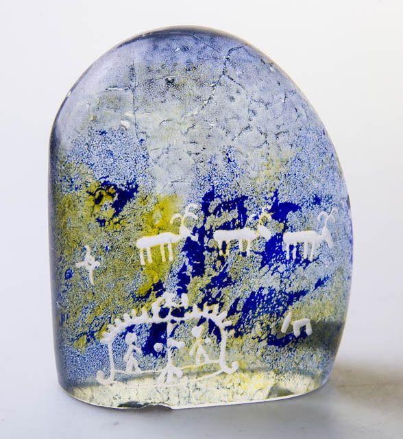 "RARE 60s KOSTA BODA SWEDEN ""LAPPLAND"" ART GLASS SCULPTURE GORAN & ANN WARFF VTG https://t.co/aVASlR1nNj https://t.co/fK67IQ8hEq"