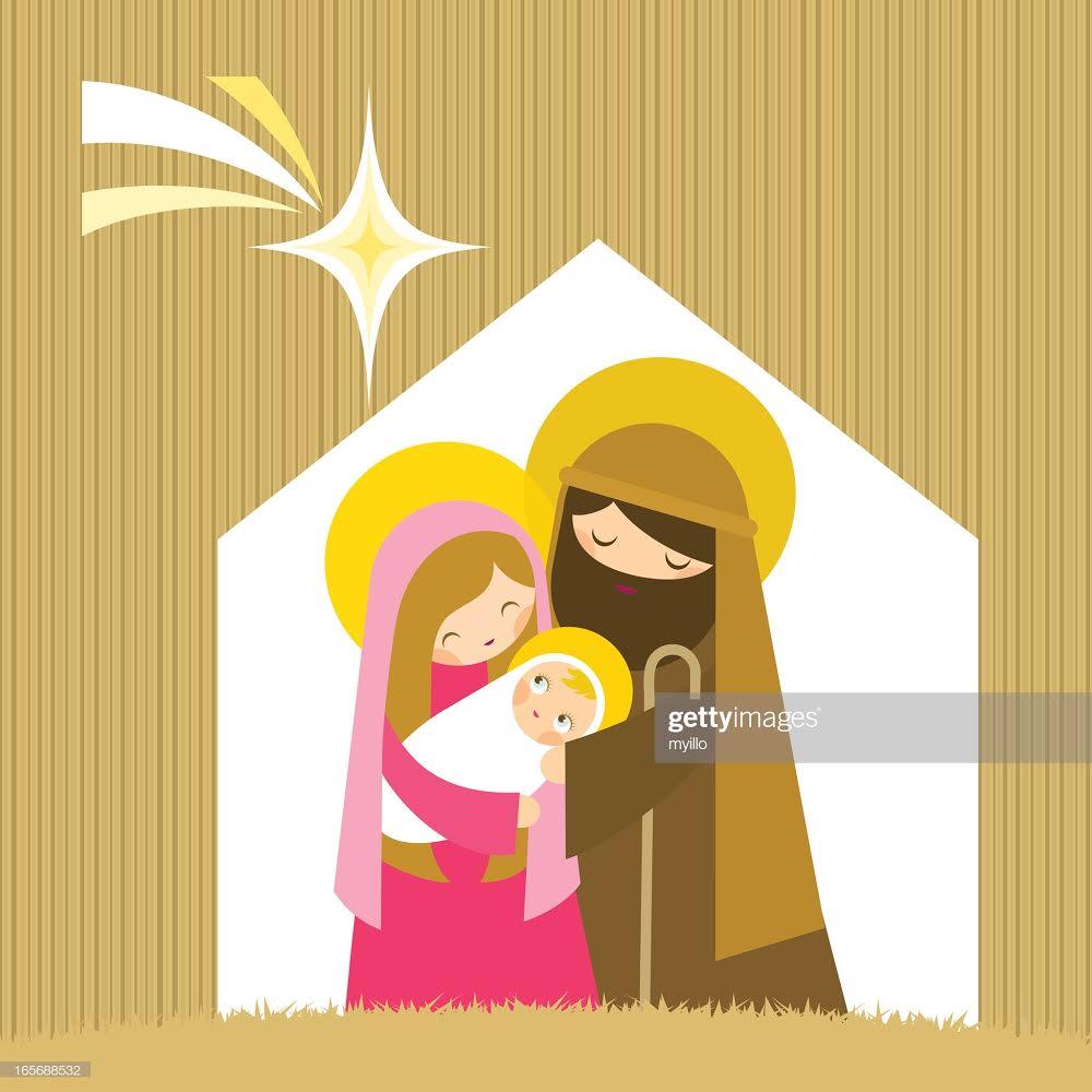 Nativity template Christmas watercolor, Christmas design