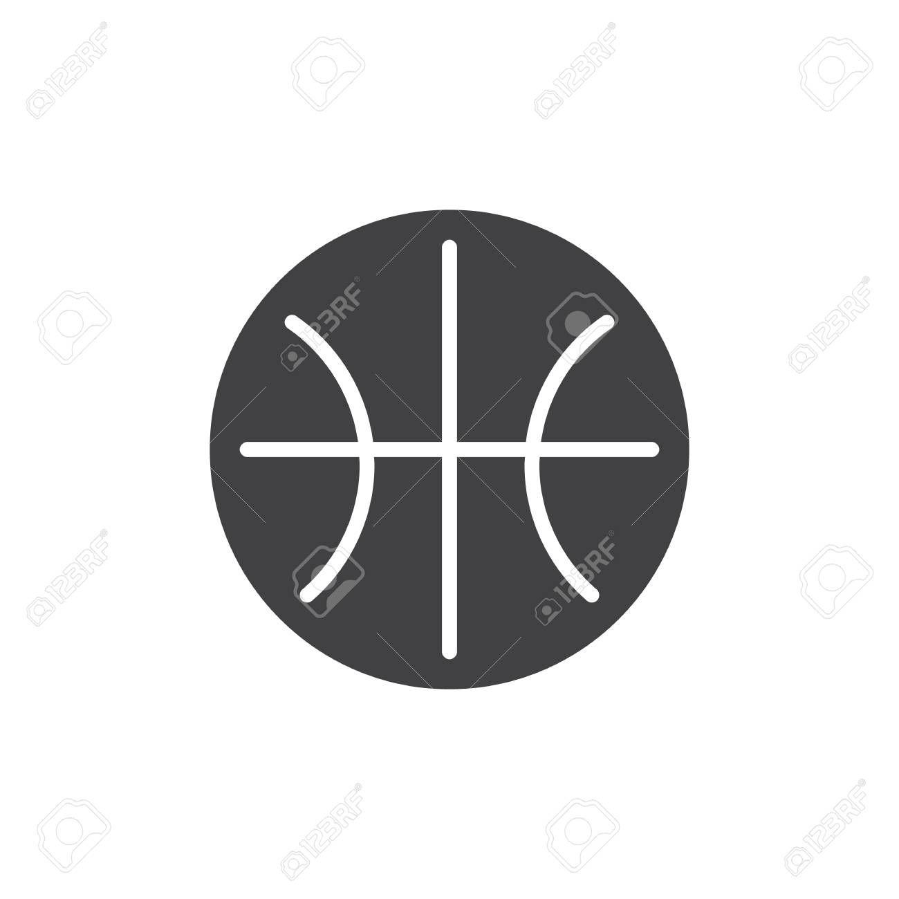 Basketball Ball Vector Icon Filled