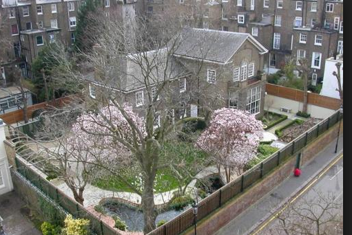 Freddie Mercurys house, Garden Lodge, Kensington, England in