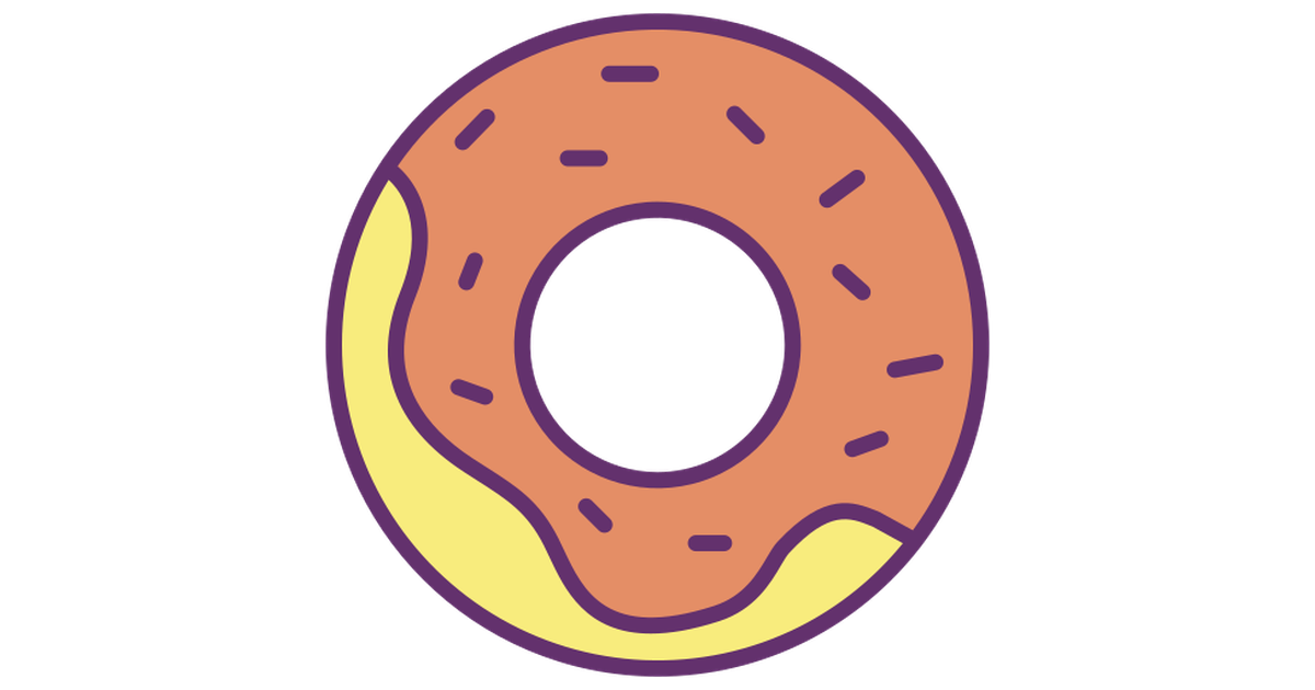 Donut free vector icons designed by Icongeek26 ภาพประกอบ
