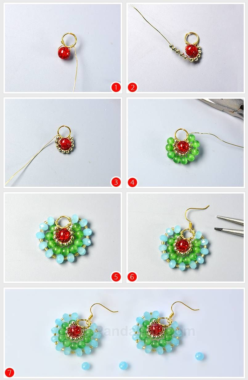 Learn How To Diy Flower Earrings From Beebeecraft Beaded Earrings Patterns Beaded Earrings Beaded Jewelry
