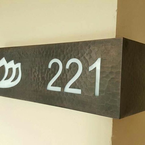 Room Number Signage Padma Ubud Hotel Bali Design Interior Graphic