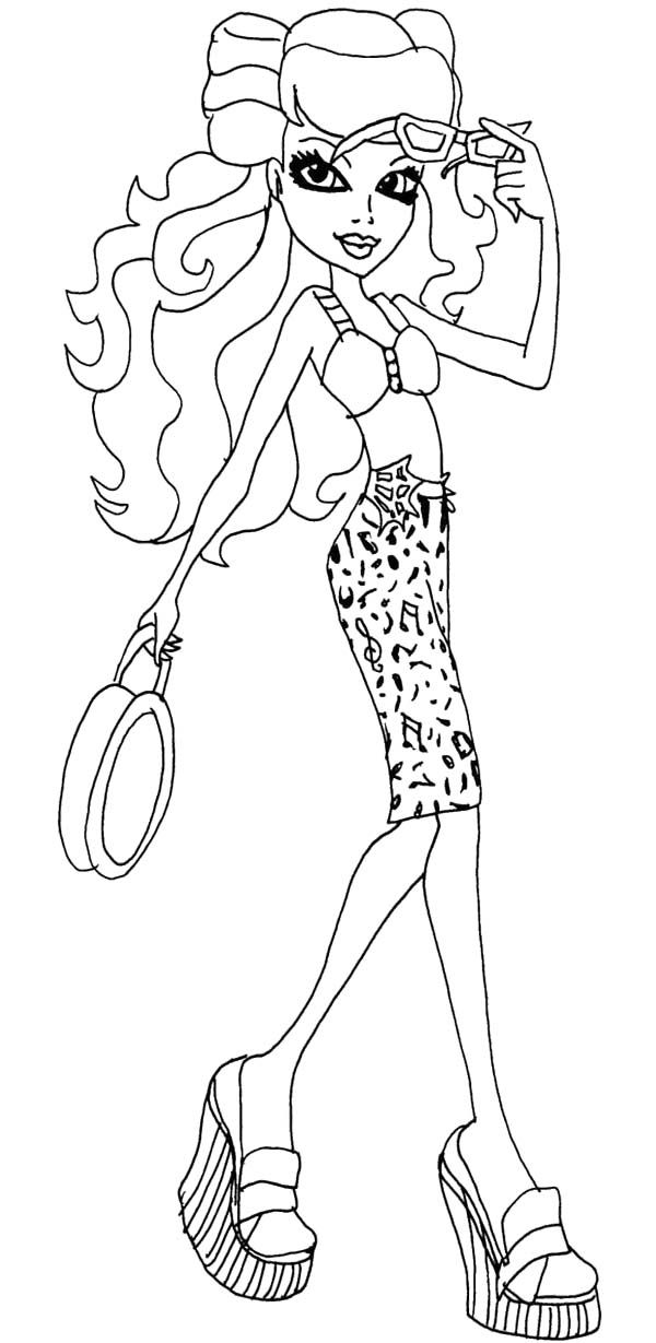 Monster High Operetta Bring A Small Bag Coloring Page | Monster High ...
