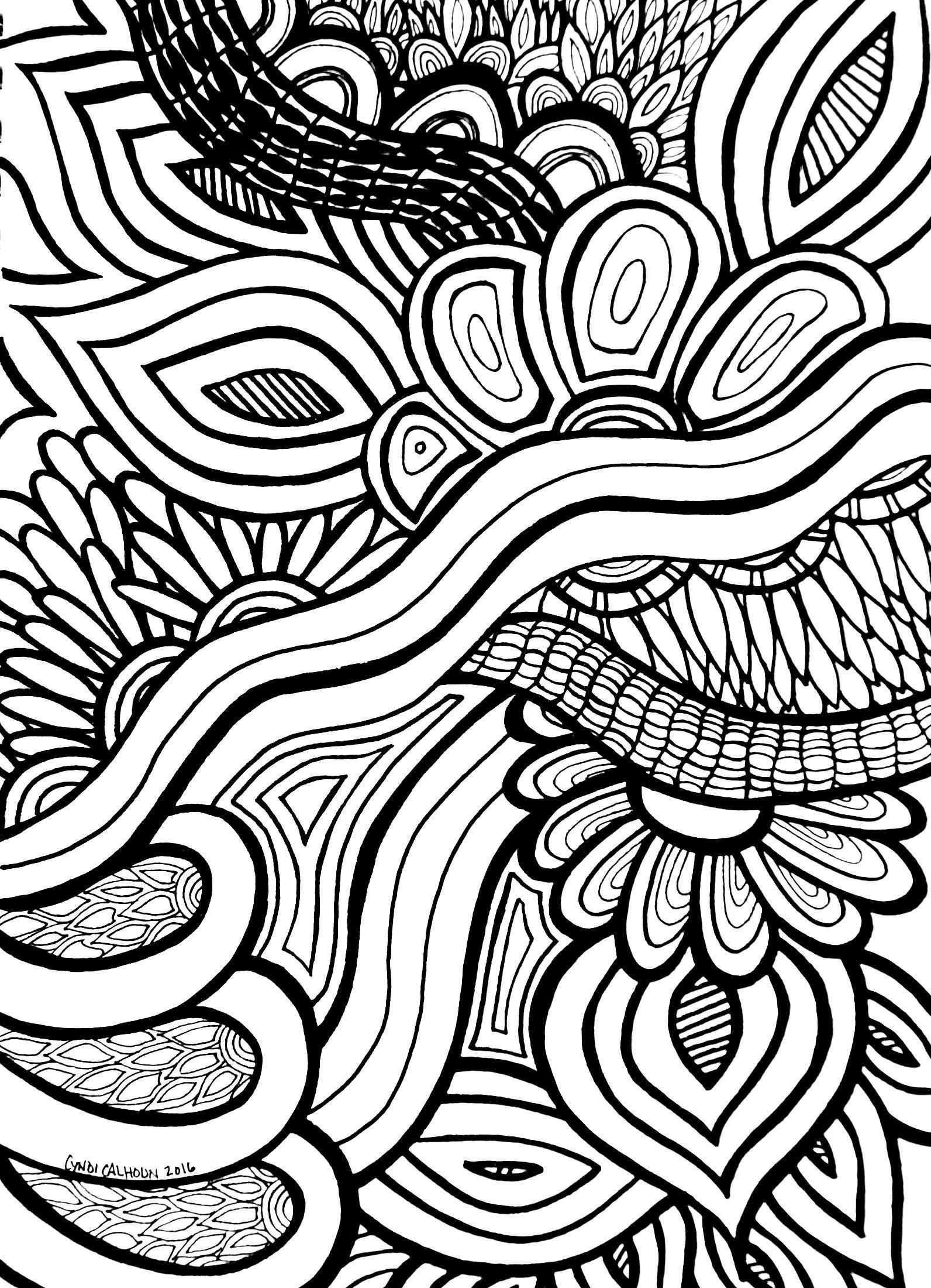 Flores abstractas del arco iris hoja para colorear | laminas y ...
