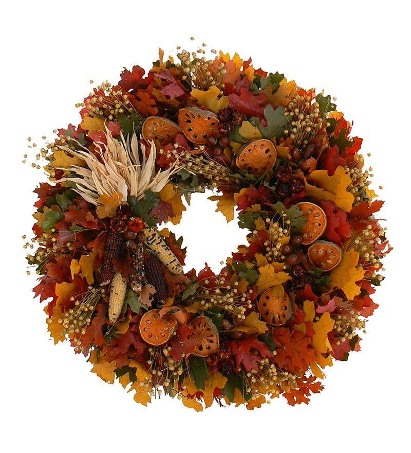 Indoor Wreaths Home Decorating: Pilgrim's Greetings Indoor Wreath
