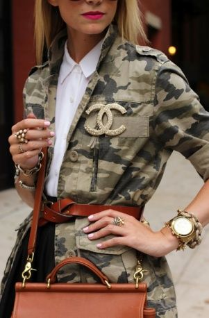 #military style with Chanel