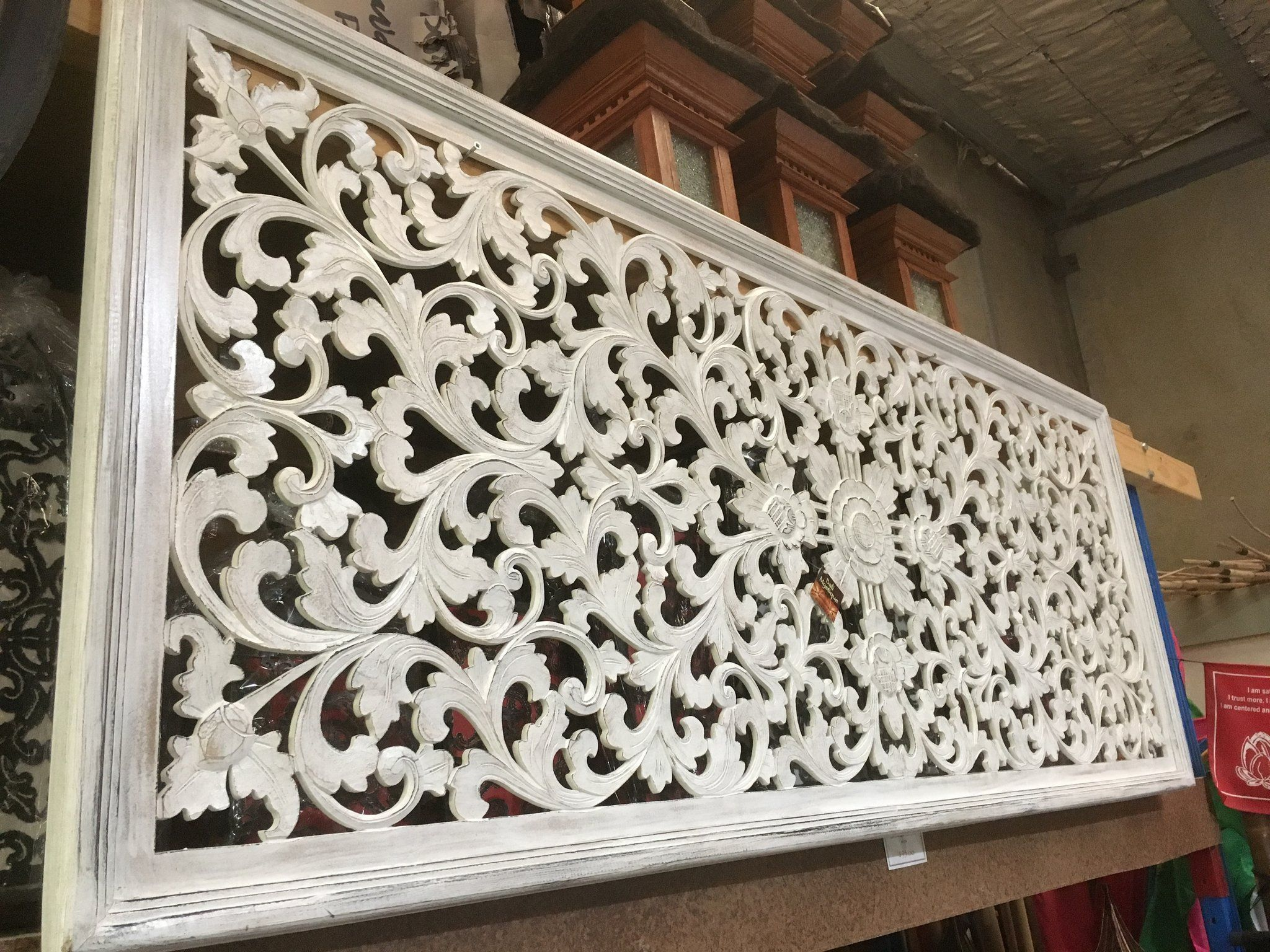 Balinese Hand Carved Wooden Bed Headboard 1874 Bali Mystique Bed Headboard Wooden Carved Headboard Carved Wall Decor