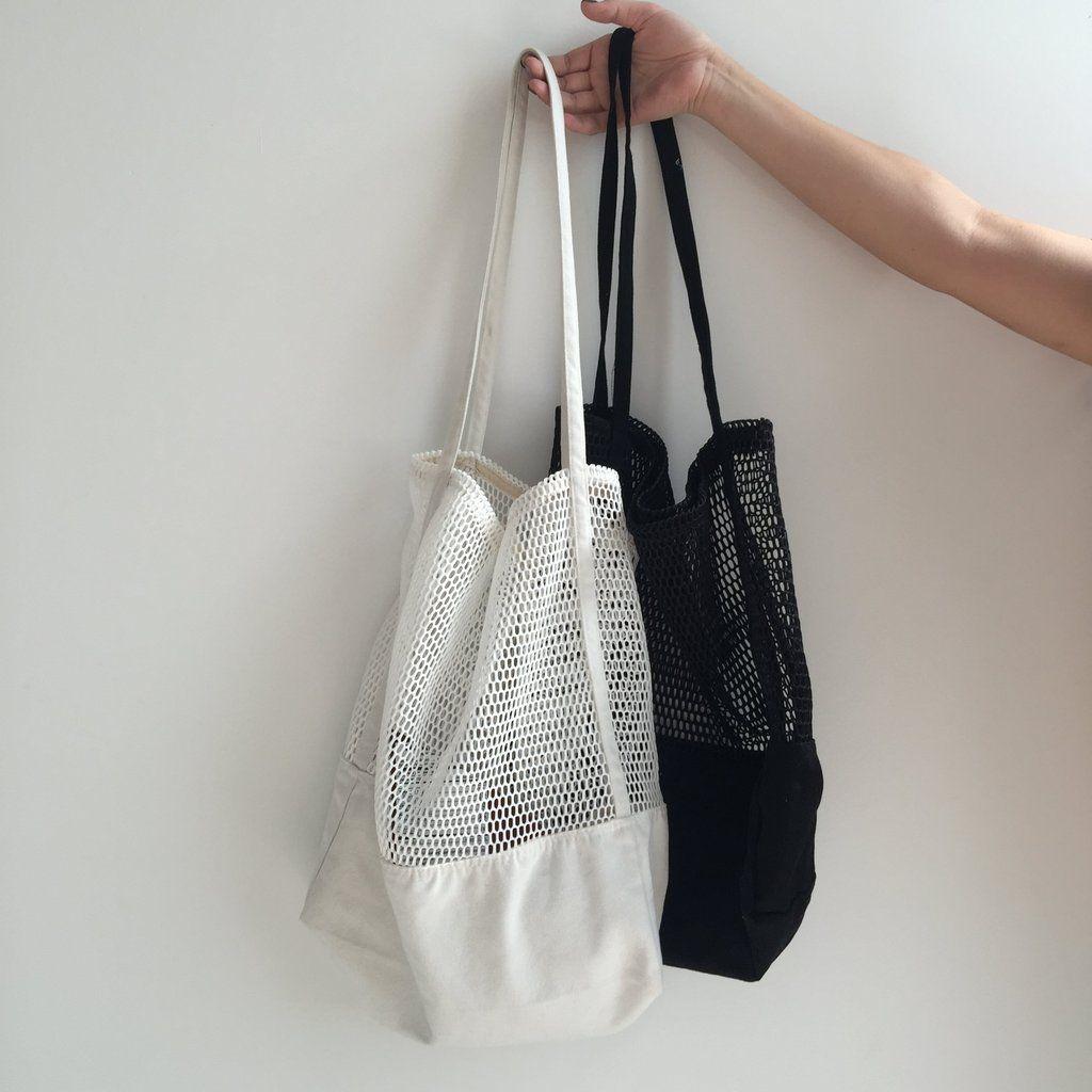 54c953b5a818 itGirl Shop SPORTISH MESH WHITE BLACK TOTE BAGS Aesthetic Apparel ...
