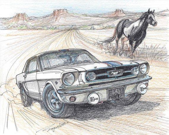 093-1965 Ford Mustang by John Najjar – Print – Limited Edition Run of 50 (8×10, 16X20)