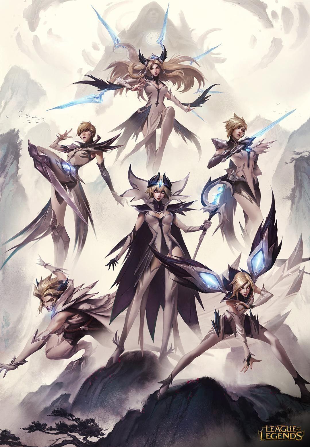 Invictus Gaming League Skins Follow Me Curlyqunlimited For More League Of Legends Makhluk Fantasi Ilustrasi Manga