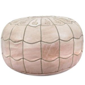 Ikram Design Moroccan Leather Pouf Ottoman | Decor at Home
