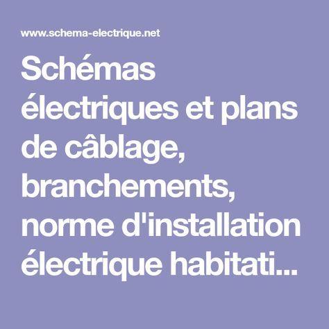 Schémas électriques et plans de câblage, branchements, norme d