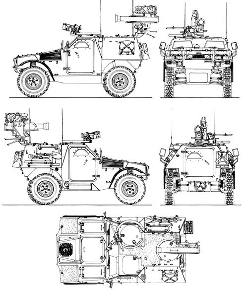 Panhard Vbl Milan Blueprints Armored Vehicles Tanks