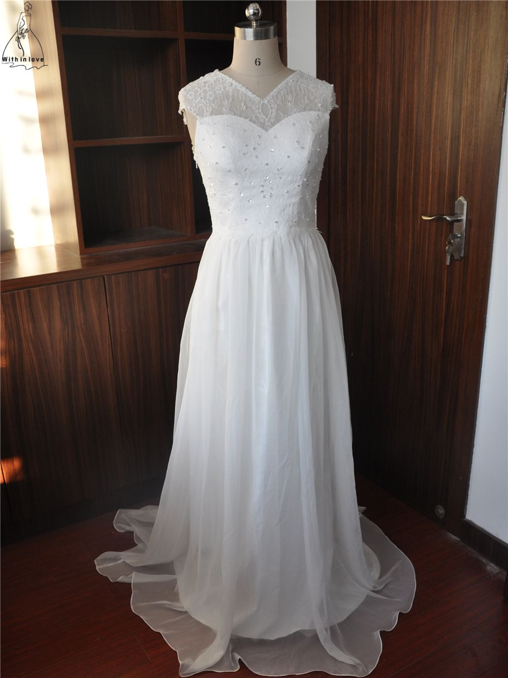 Click to buy ucuc fashion bohemian wedding dress vneck white