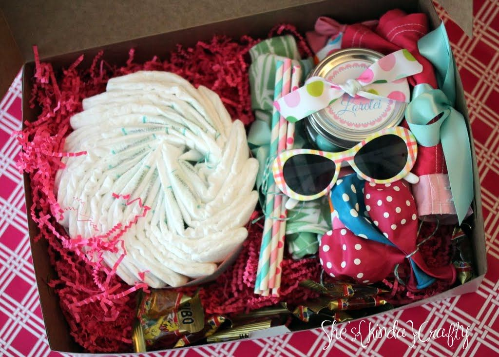 Mini Baby Shower In A Box Via Shes Kinda Crafty Gift Ideas
