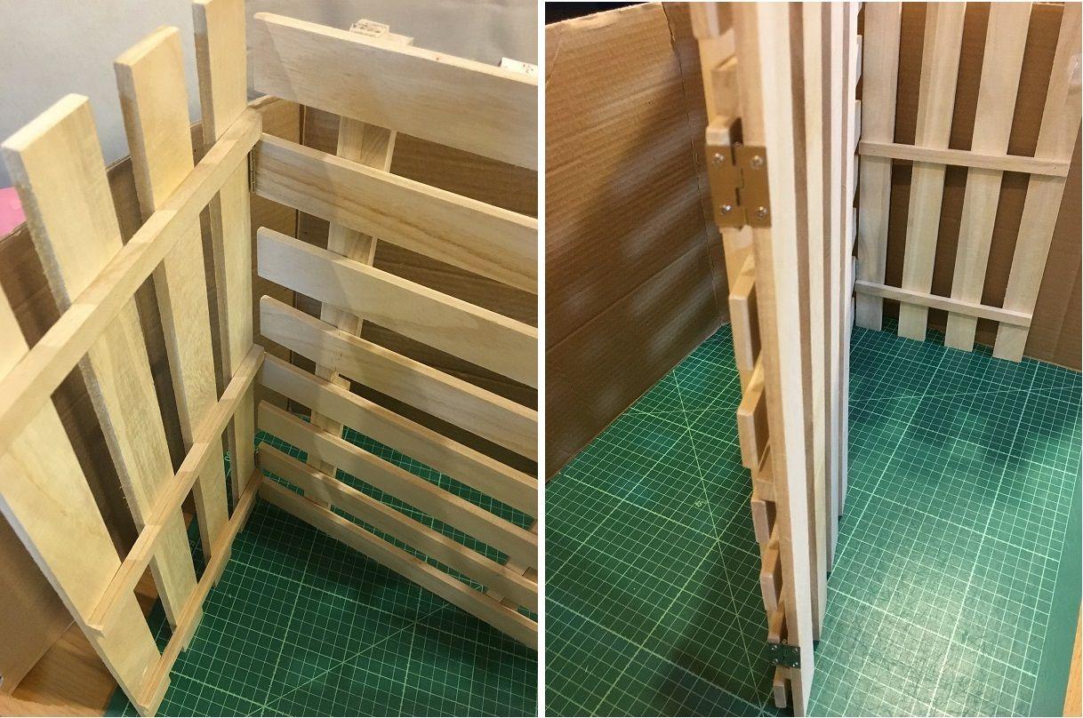 100均すのこで折り畳み棚を作ろう きままにハンドメイド Fleurs Neige Yukihana 手作り棚 100均 すのこ インテリア 収納