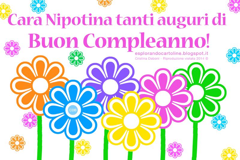 Cara nipotina Tanti Auguri di Buon Compleanno!   Immagini   Happy