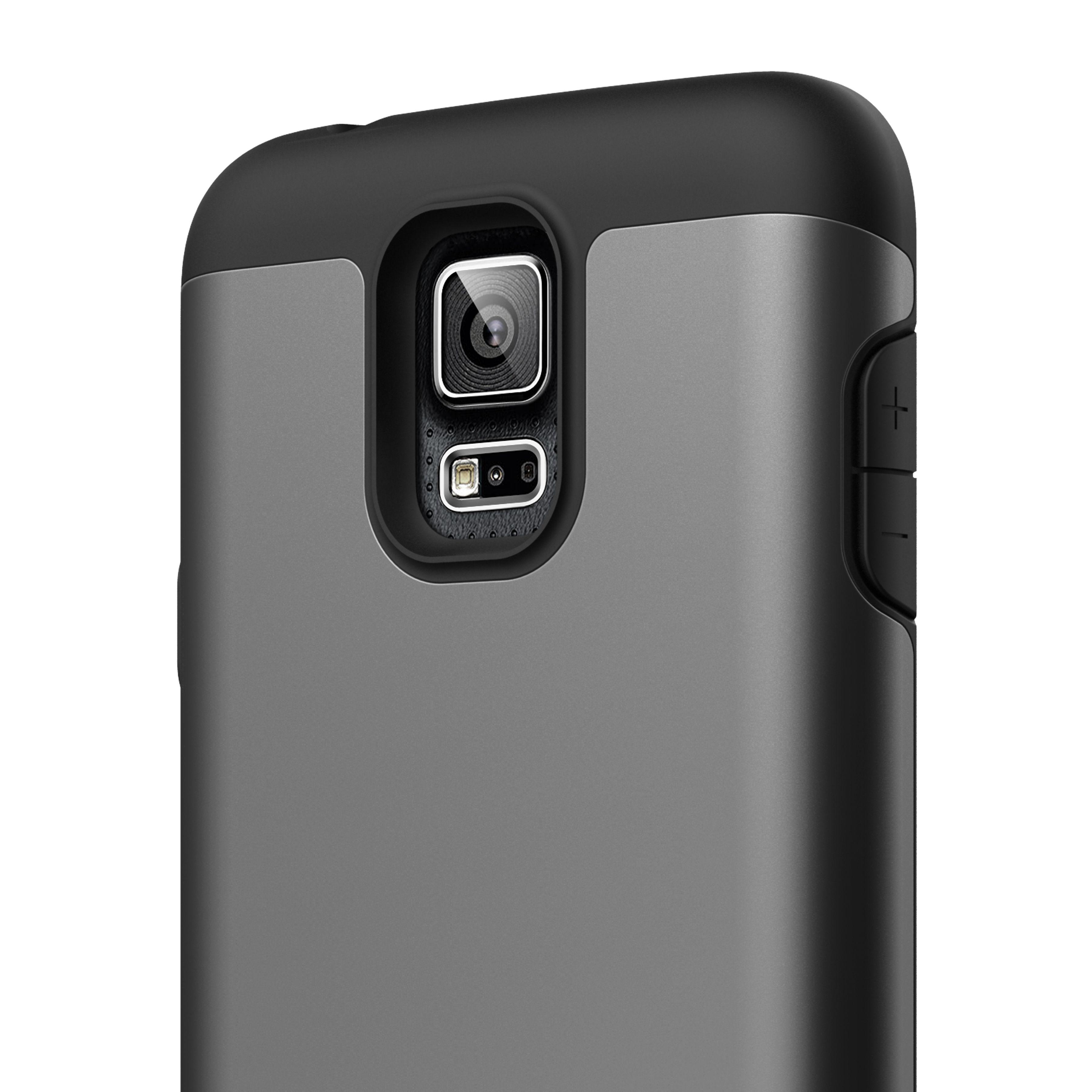 cheaper a124b 5cd47 elago Duro Case for Samsung Galaxy S5 - Black/Metallic Dark Gray ...